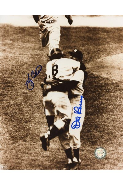 Yogi Berra Don Larsen Signed 8x10 Photo Autographed Perfect Game 1956 World Series