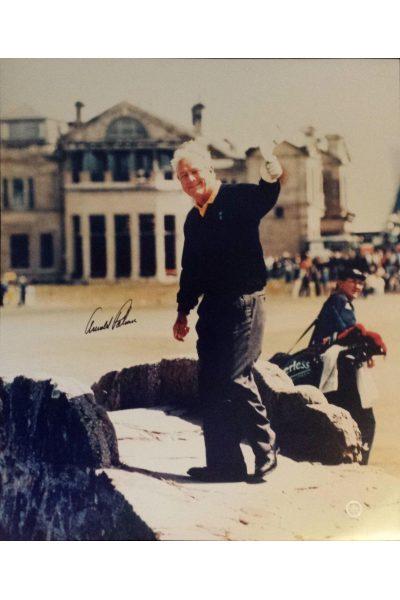 Arnold Palmer Signed 20x24 Photo 1995 British Open Final Swilcan Bridge