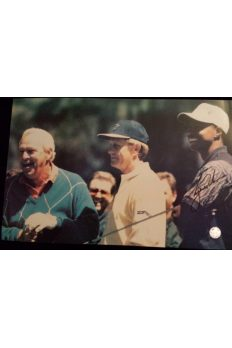 Tiger Woods Signed 11x17 Photo 1996 Masters Arnold Palmer Jack Nicklaus