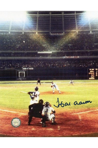 Hank Aaron Signed 8x10 Photo Autographed 715th Homerun