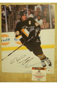 Mario Lemieux Signed 11x14 Photo Autographed Auto GA GAI COA Penguins