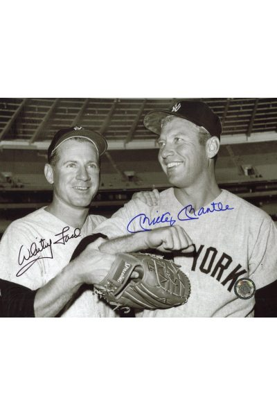 Mickey Mantle Whitey Ford Signed 8x10 Photo Autographed