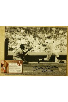 "Mickey Mantle Signed 11x14 Signed Photo Autographed Inscribed ""Hof'74"""
