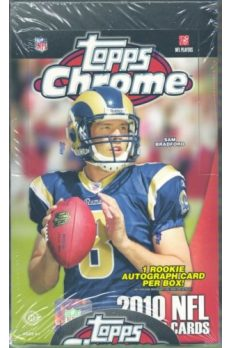 2010 Topps Chrome Football Hobby 12 box Case