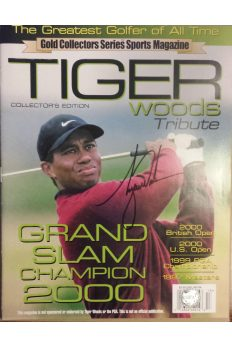 Tiger Woods Signed Tribute Magazine Autographed