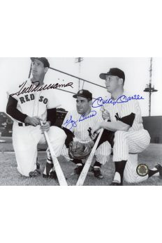 Mickey Mantle Ted Williams Yogi Berra Signed 8x10 Autographed Spring 1953