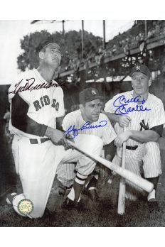 Mickey Mantle Ted Williams Yogi Berra Signed 8x10 Autographed
