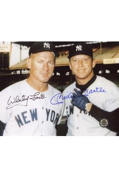 Mickey Mantle Whitey Ford Signed 8x10 Photo Autographed color