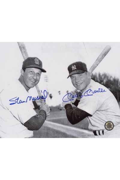 Mickey Mantle Stan Musial Signed 8x10 Photo Autographed