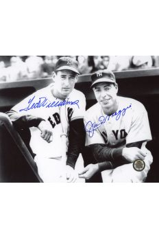 Joe DiMaggio Ted Williams Signed 8x10 Photo Autographed Du