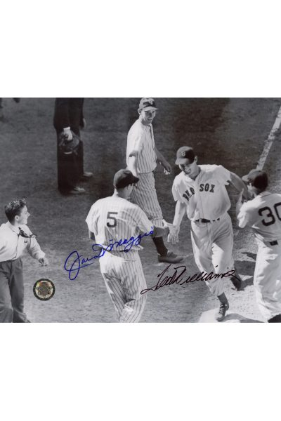 Joe DiMaggio Ted Williams Signed 8x10 Photo Autographed All-star game 1941