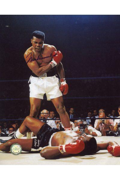 Muhammad Ali Signed 8x10 Photo Autographed Sonny Liston Knockout