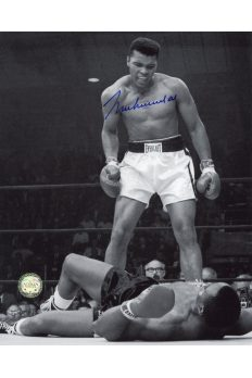 Muhammad Ali Signed 8x10 Photo Autographed Sonny Liston Knockout B&W