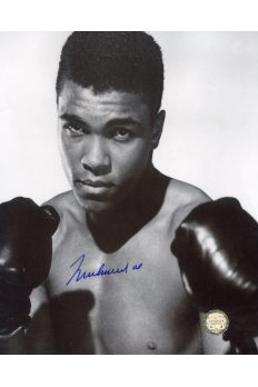 Muhammad Ali Signed 8x10 Photo Autographed Boxing Pose Gloves Up