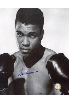 Muhammad Ali Signed 8x10 Photo Autographed Boxing Pose Gloves Up