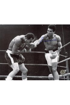 Muhammad Ali Signed 8x10 Photo Autographed Punching Ken Norton