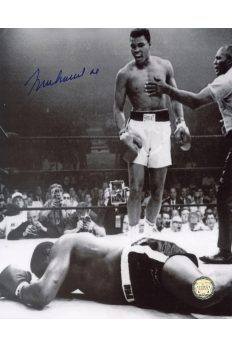 Muhammad Ali Signed 8x10 Photo Autographed Standing over Sonny Liston