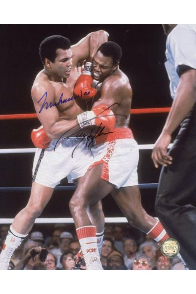 Muhammad Ali Larry Holmes Signed 8x10 Photo Autographed 1980
