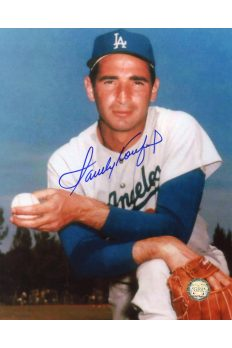Sandy Koufax Signed 8x10 Photo Autographed Kneeling ball in hand