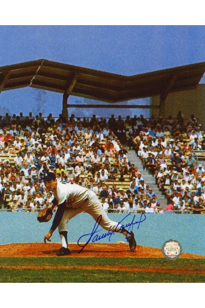 Sandy Koufax Signed 8x10 Photo Autographed Pitching Delivery Color