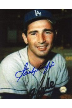 Sandy Koufax Signed 8x10 Photo Autographed Portrait Grainy