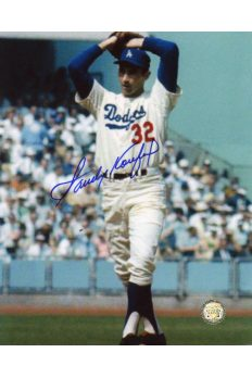 Sandy Koufax Signed 8x10 Photo Autographed The Windup Grainy