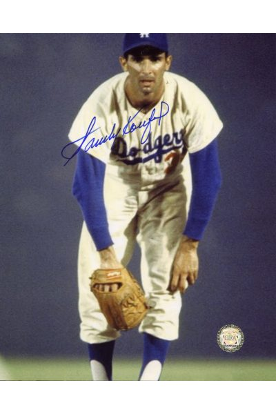 Sandy Koufax Signed 8x10 Photo Autographed On the mound