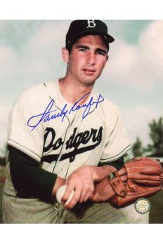 Sandy Koufax Signed 8x10 Photo Autographed Kneeling Brooklyn Dodgers