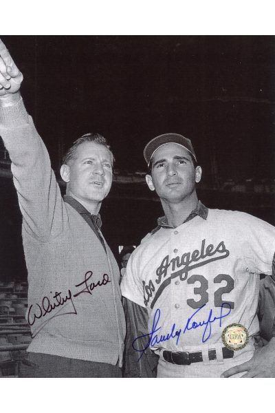 Sandy Koufax Whitey Ford Signed 8x10 Photo Autographed