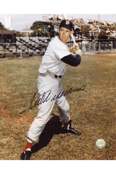Ted Williams Signed 8x10 Photo Autographed Posed with Bat