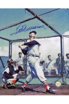 Ted Williams Signed 8x10 Photo Autographed Batting Cage