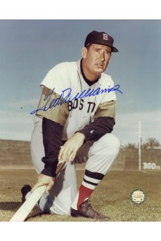 Ted Williams Signed 8x10 Photo Autographed Posed Kneeling with bat