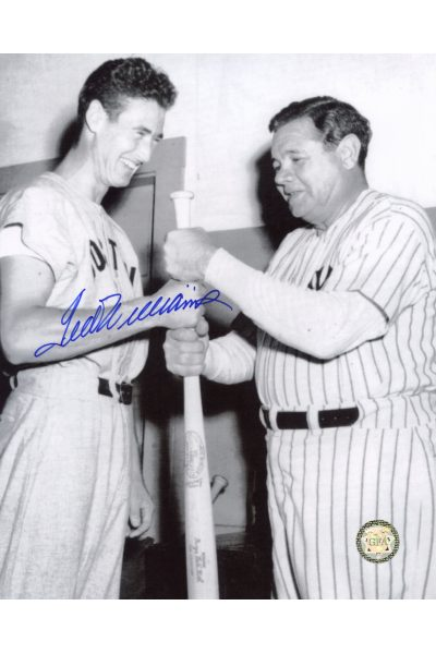 Ted Williams Signed 8x10 Photo Autographed with Babe Ruth