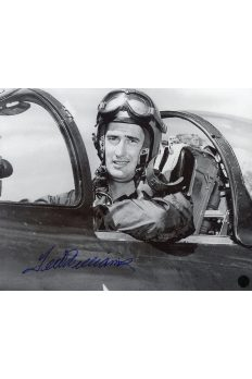 Ted Williams Signed 8x10 Photo Autographed USMC Fighter Pilot WWII