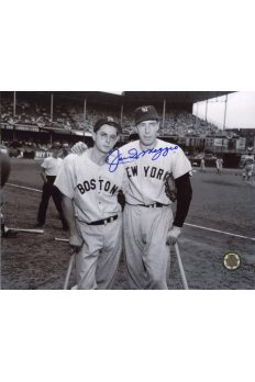 Joe DiMaggio Signed 8x10 Photo Autographed Posed with Dom DiMaggio