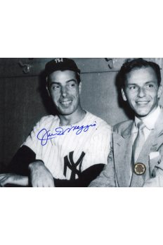 Joe DiMaggio Signed 8x10 Photo Autographed Posed with Frank Sinatra