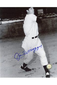 Joe DiMaggio Signed 8x10 Photo Autographed Swing Bat Spring Training
