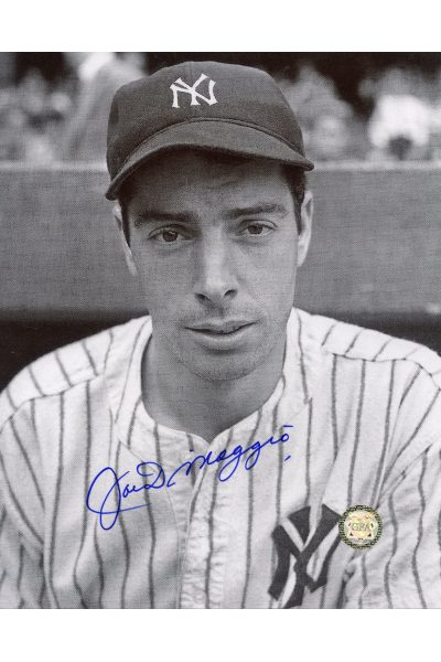 Joe DiMaggio Signed 8x10 Photo Autographed Posed with Bat Spring Training