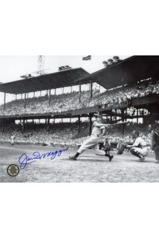 Joe DiMaggio Signed 8x10 Photo Autographed Hitting at Yankee Stadium