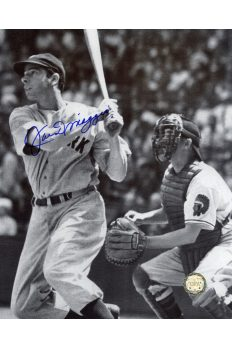 Joe DiMaggio Signed 8x10 Photo Autographed Base hit
