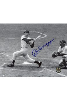 Joe DiMaggio Signed 8x10 Photo Autographed Swing at Plate