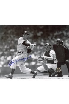 Joe DiMaggio Signed 8x10 Photo Autographed Home run swing