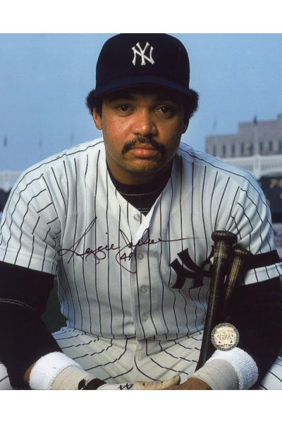 Reggie Jackson Signed 8x10 Photo Autographed Posed