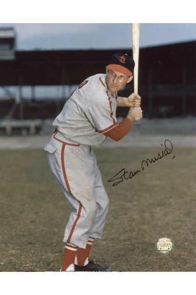 Stan Musial Signed 8x10 Photo Autographed Posed Batting