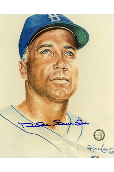 Duke Snider Signed 8x10 Photo Autographed Ron Lewis Brooklyn Dodgers