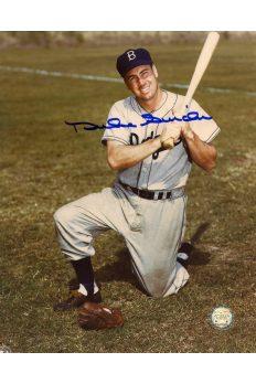 Duke Snider Signed 8x10 Photo Autographed Kneeling Bat on Shoulder