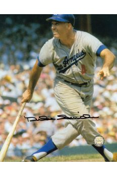 Duke Snider Signed 8x10 Photo Autographed Swinging at the Plate