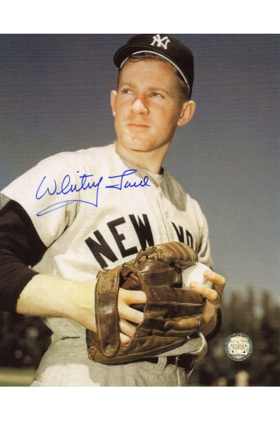 Whitey Ford Signed 8x10 Photo Autographed Posed Glove at Waist