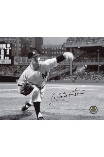 Whitey Ford Signed 8x10 Photo Autographed Pitching on the Mound
