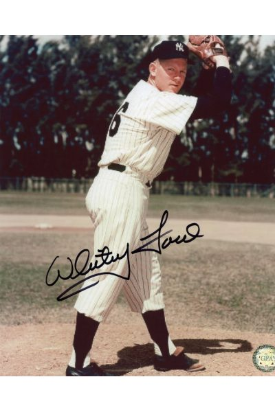 Whitey Ford Signed 8x10 Photo Autographed Posed on the Mound